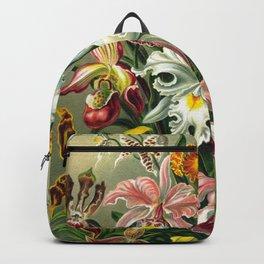 Victorian Orchids Floral Print-Ernst Haeckel Backpack