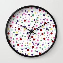 Candy Pop - white Wall Clock