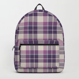 Winter Plaid 6 Backpack