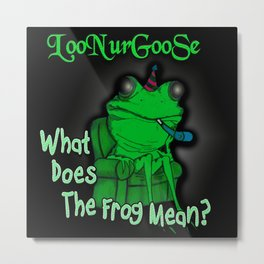 What Does The Frog Mean? Metal Print