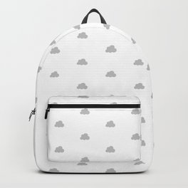 Light grey small clouds pattern Backpack