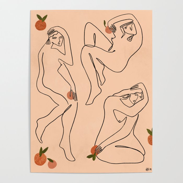 Under the citrus tree Poster