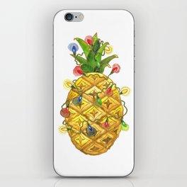 The Christmas Pineapple iPhone Skin