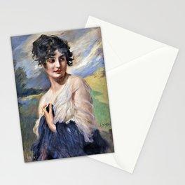 Leopold Schmutzler - Portrait of a lady - Digital Remastered Edition Stationery Cards