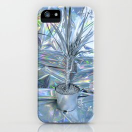 SILVER PALM tree iPhone Case