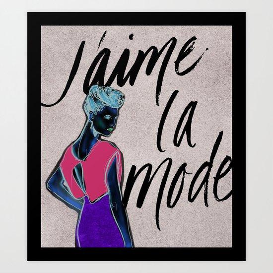 I Love Fashion Art Print