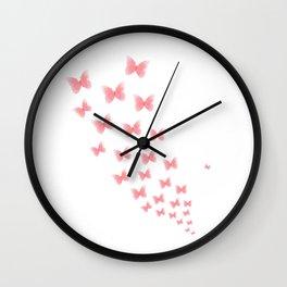 Watermelon butterflies Wall Clock
