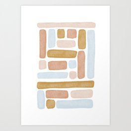 Color Block Terracotta Art Print