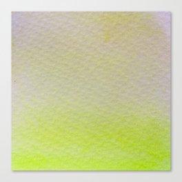 Gradient watercolor - lemon yelllow Canvas Print