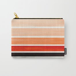 Burnt Sienna Minimalist Mid Century Modern Color Fields Ombre Watercolor Staggered Squares Carry-All Pouch