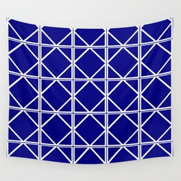 Navy Triangle Square Wall Tapestry