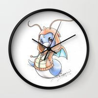 projectrocket Wall Clocks featuring A 'Tini Ambition to Soar by Randy C