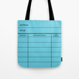 LiBRARY BOOK CARD (sky) Tote Bag