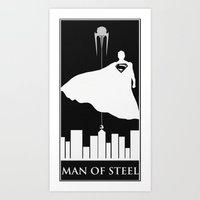 Man of Steel Art Art Print