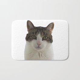 Attentive Cat Bath Mat