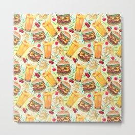 burgers, juices & fries Metal Print