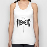 targaryen Tank Tops featuring House Targaryen - Fire and Blood by Jack Howse