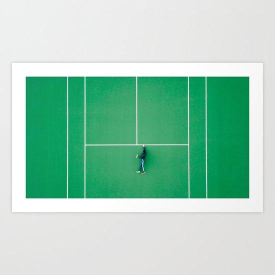 Tennis court green Art Print