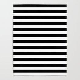 Black and White Horizontal Strips Poster