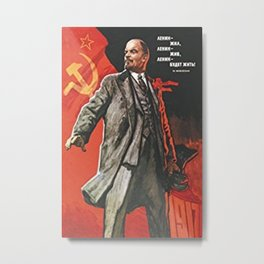 Lenin Communist Propaganda Metal Print
