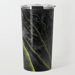 Mossy Bay Trees in Selective Black and White Travel Mug