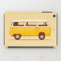volkswagen iPad Cases featuring Yellow Van by Florent Bodart / Speakerine