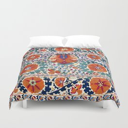 Shakhrisyabz Suzani Uzbekistan Antique Embroidery Print Duvet Cover