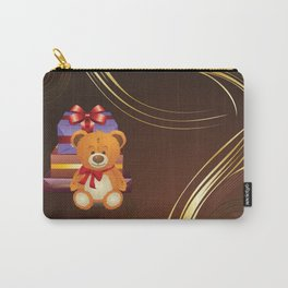 Teddy bear with gift boxes Carry-All Pouch