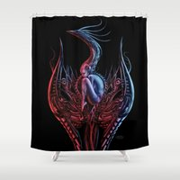 phoenix Shower Curtains featuring Phoenix by Giorgio Finamore
