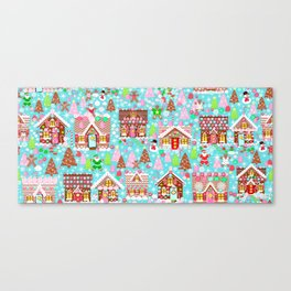 Gingerbread House Christmas Winter Candy, sweets.christmas gift, holiday gift for kids of all ages, Canvas Print