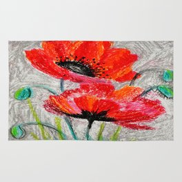 Poppies # 2 Rug