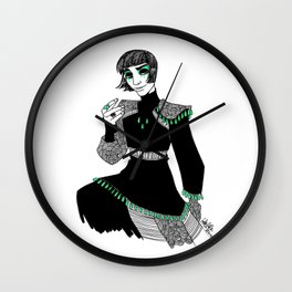 King in Green Wall Clock