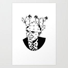 Cactus's Head Art Print