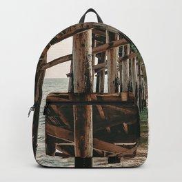 Balboa Pier Print {1 of 3} | Newport Beach Ocean Photography Teal Summer Sun Wave Art Backpack