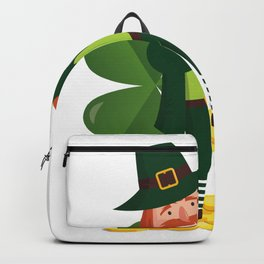 Funny Leprechaun Dab Dabbing St Patricks Day Backpack