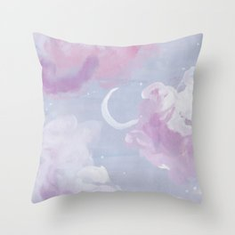 Dreamy Lilac Sky Throw Pillow
