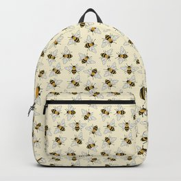 Busy Bees on buttermilk Pattern Backpack
