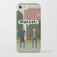 221b iPhone & iPod Cases featuring Sherlock 221B by FuliFuli