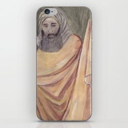 Reproduction of a Section of The Trial By Fire Fresco by Giotto iPhone Skin