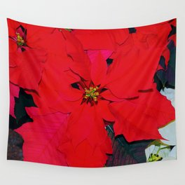 Poinsettia Wall Tapestry