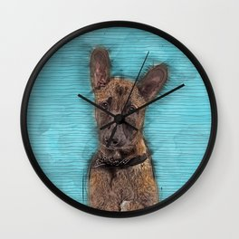 Belgian Malinois Puppy Sketch - Mechelaar Wall Clock