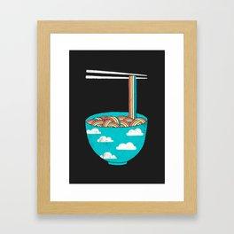 Rain-Bowl Framed Art Print