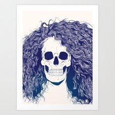 SKull GIrls 2 - Sea Navy Art Print