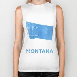 Montana map outline Blue Jeans watercolor Biker Tank