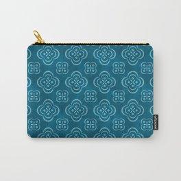 Dotty Batik (Seafoam Blue) Carry-All Pouch