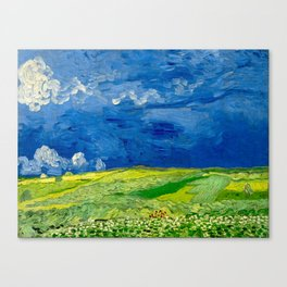 Vincent van Gogh Wheatfield Under Thunderclouds Oil Painting Canvas Print