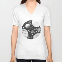 sport V-neck T-shirts featuring SPACE & SPORT by Kiley Victoria
