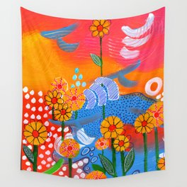 Jump for Joy Wall Tapestry