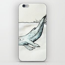 Whale you look at that! iPhone Skin