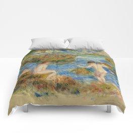 """Auguste Renoir """"Garçons nus dans les rochers à Guernsey"""" Comforters"""